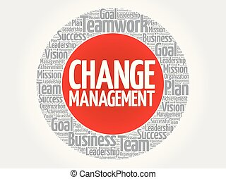 Change management circle stamp