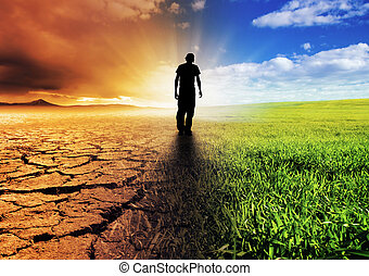 Change of Scene - A Climate Change Concept Image