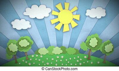 Change of Seasons. Cartoon. Loop. - Change of Seasons....