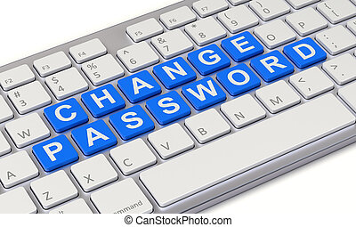 Change password concept with computer keyboard