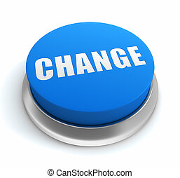 change push button concept 3d illustration