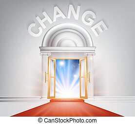 Change red Carpet Door