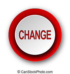 change red modern web icon on white background