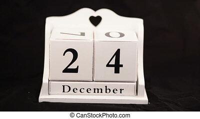 Change the calendar Christmas 25th december