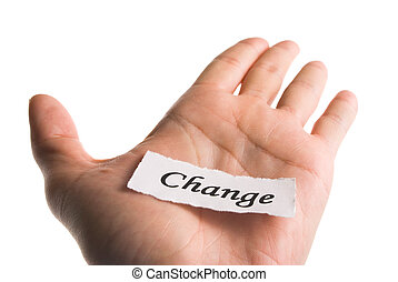 Change word in hand