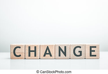 Change word made with building blocks.