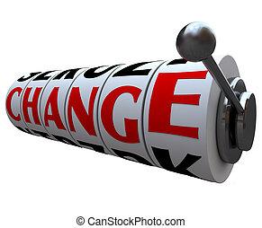 Change Word on Slot Machine Wheels