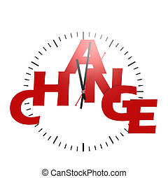 Change word with clock