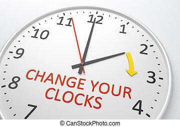 Change Your Clocks - An image of a nice clock with text...