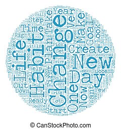 Change Your Life In 21 Days text background wordcloud concept
