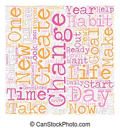 Change Your Life In Days text background wordcloud concept