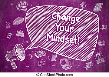 Change Your Mindset - Business Concept.