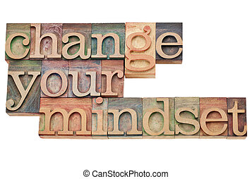 Change your mindset - isolated motivational phrase in...