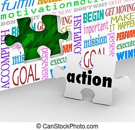 changement, complet, reussite, puzzle, mouvement, needed, résoudre, innovation, action, problème, morceau, final