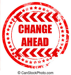 changement, devant, signe