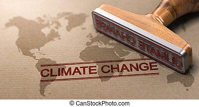 changement, questions environnementales, global, concept, climat