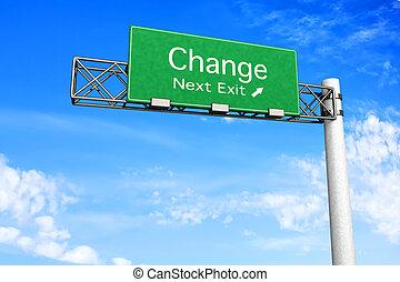 changement, signe route, -