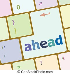 changes ahead concept with key on keyboard vector illustration