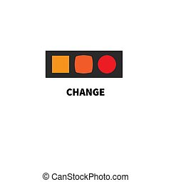 Changes - Conceptual icon changes. Logo of business training...