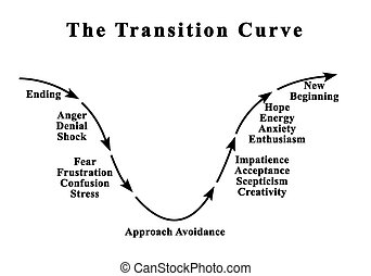 Changing Emotions during Transition Curve