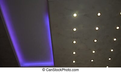 Changing lights on a ceiling