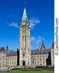 Changing of the Guard ceremony at Canada's Parliament Hill