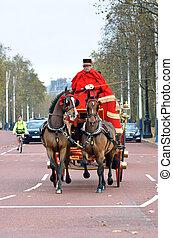 Changing of the guard in Buckingham Palace.