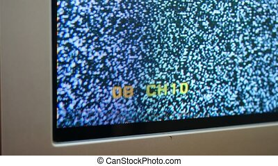 changing television channels with no signal noise.