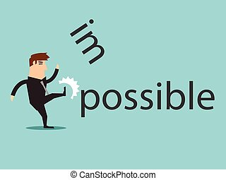 Changing the word impossible to pos