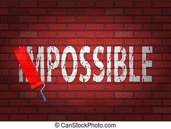 Changing the word impossible to possible