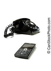 Changing Times - Image of an antique, vintage desk telephone...