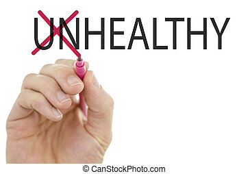 Changing word Unhealthy into Healthy