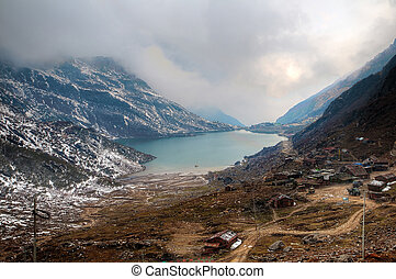 Changu Lake - Beautiful high dynamic range image of Changu...