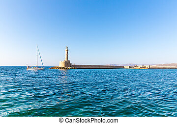 Chania town (Crete, Greece), light house