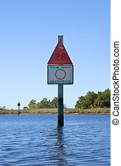 Channel Marker - Channel marker in the Gulf of Mexico near...