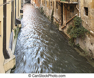 Channel river in Bologna Italy