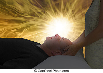 Channelling Beautiful Golden Healing Energy