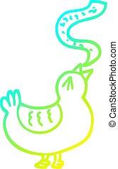 chanson, gradient, dessin ligne, froid, oiseau, dessin animé