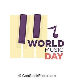 chanson, industrie, isolé, jour, vecteur, musique, mondiale, vacances, musical, icône