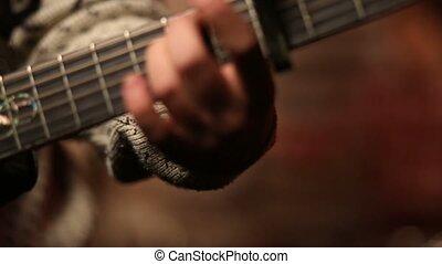 chanson, jeune, boîte nuit, bande, musique, jouer