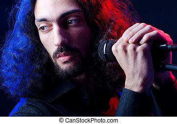 chant, concert, homme