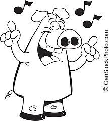 Chant cochon debout song chant dessin anim cochon - Dessin cochon debout ...