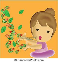 chant, pousse feuilles