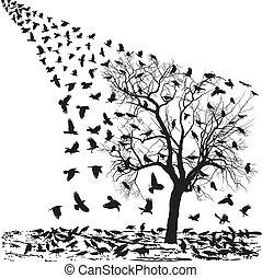 chanter victoire, arbre hiver
