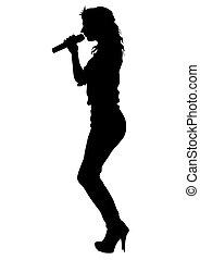 chanteur, cinq, blanc, femmes
