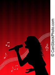 chanteur, karaoke