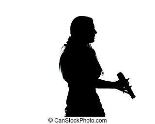 chanteur, silhouette
