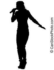 chanteur, six, blanc, femmes