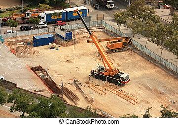 chantier, fonctionnement, machines