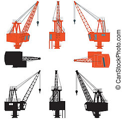 chantier naval, sans, grue, stand